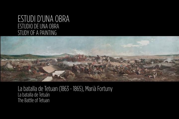 La Batalla de Tetuan, estudi d'una obra