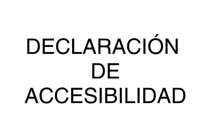 declaración de accesibilidad web 2020