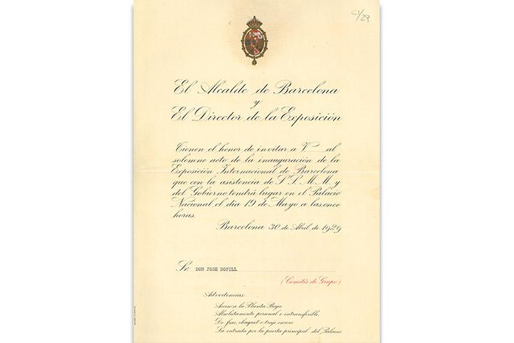 El Alcalde de Barcelona y el director de la Exposición ...inauguración de la Exposición Internacional de Barcelona ...19 de mayo ...1929