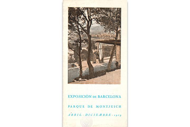 Exposición de Barcelona, parque de Montjuich, abril-diciembre 1929