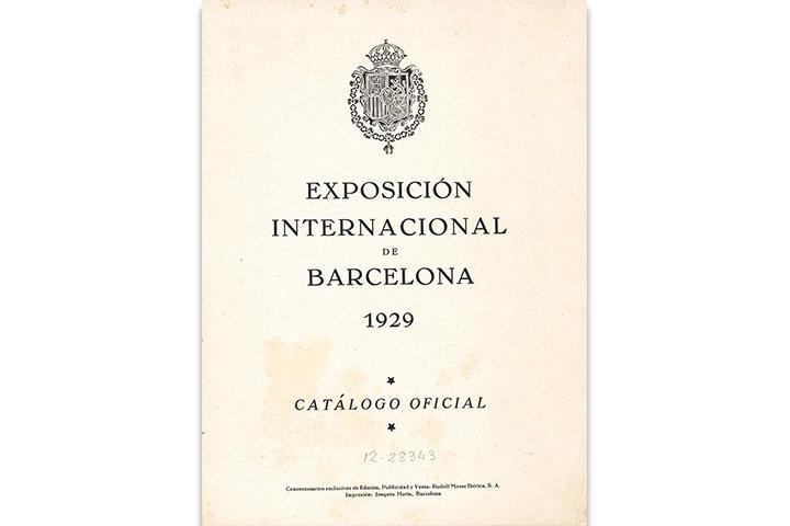 Exposición Internacional de Barcelona 1929: catálogo oficial