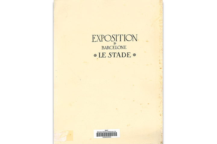 Exposition de Barcelone 1929: section des sports: le stade