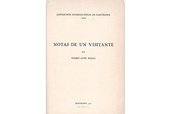 Notas de un visitante: Exposición Internacional de Barcelona 1929