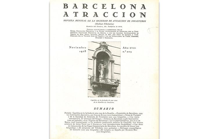 Barcelona atracción: revista mensual de la Sociedad de Atracción de Forasteros