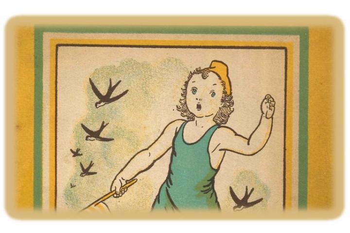 """Detall de la portada del conte """"El més petit de tots"""" il·lustrat per Lola Anglada"""