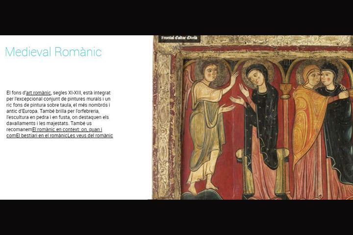 La col·lecció d'art romànic