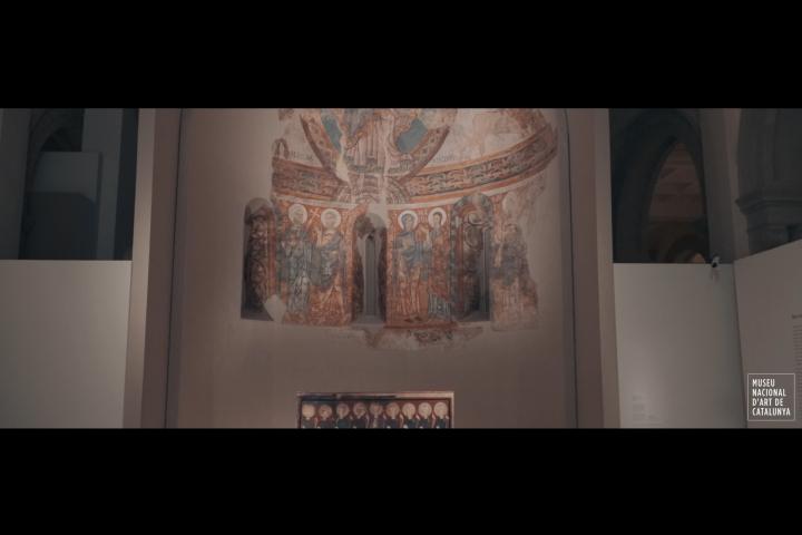 visita a la col·lecció d'art romànic del museu