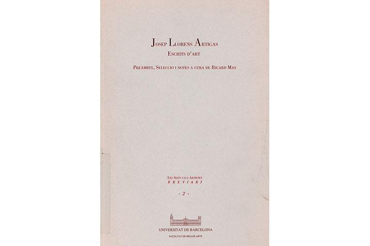 Josep Llorens Artigas: escrits d'art