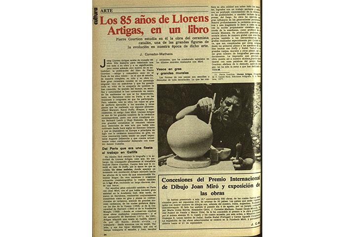 Los 85 años de Llorens Artigas en un libro