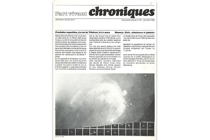 Chroniques: l'art vivant