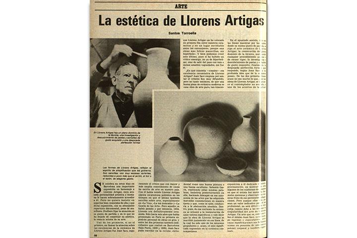 La estética de Llorens Artigas