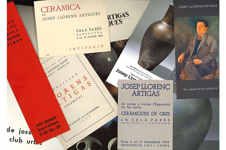 [Catàlegs d'exposicions individuals de Josep Llorens i Artigas]