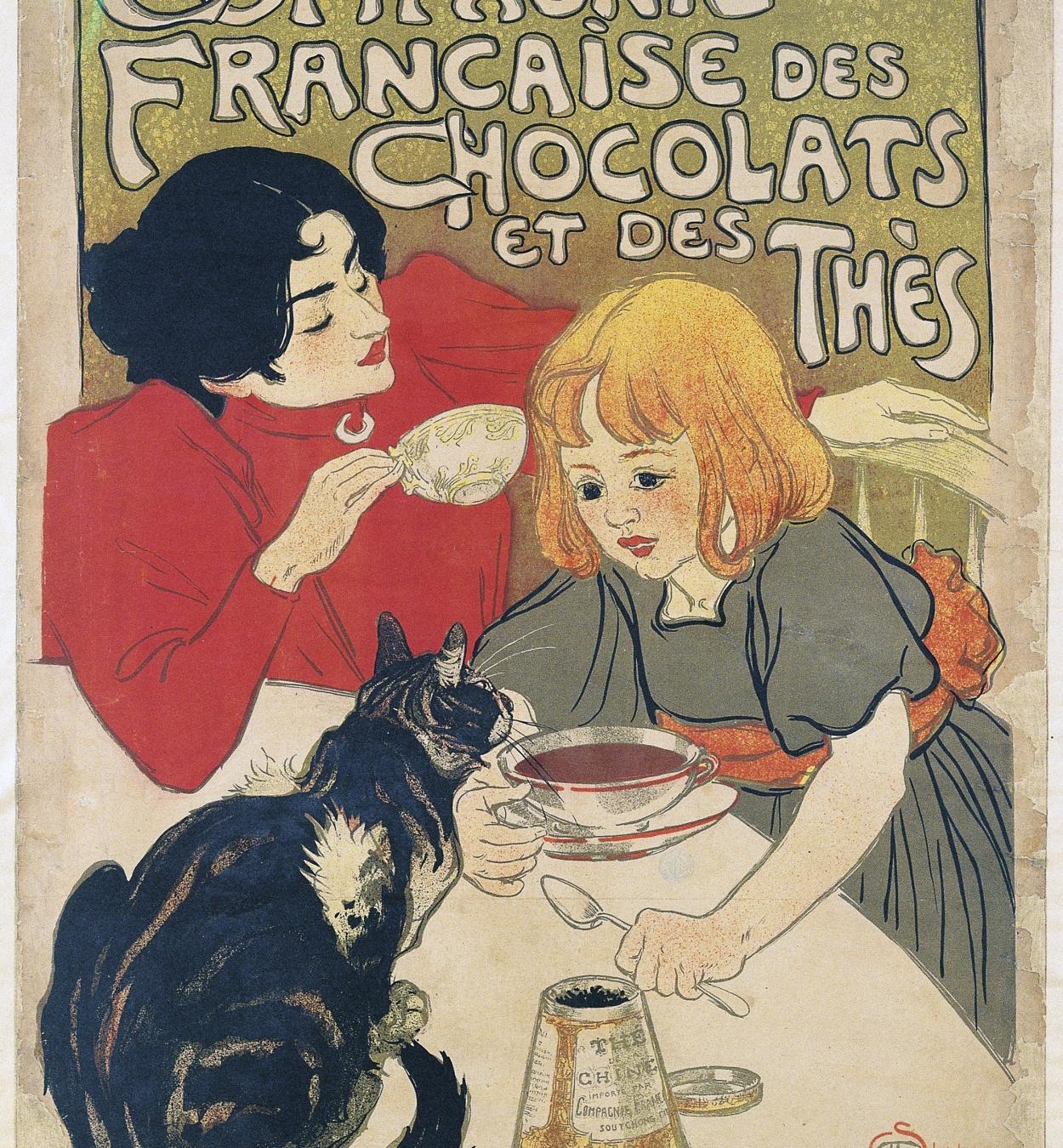 Théophile Alexandre Steinlen - Compagnie Francaise des Chocolats et des Thès - 1895