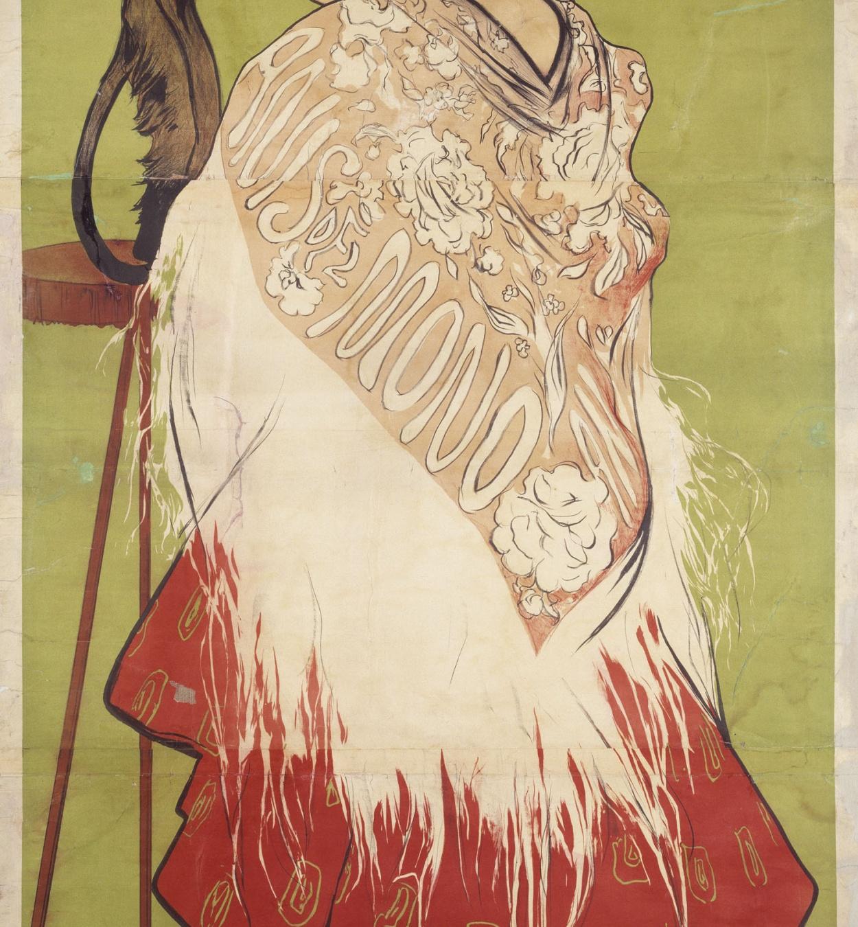Ramon Casas - Anís del Mono (Con una falda de percal planchá) (In a pressed percale skirt) - 1898