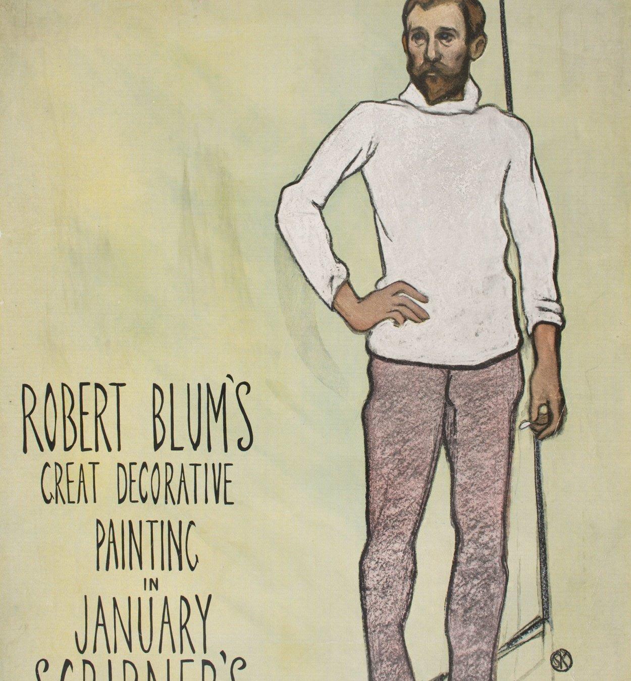 William Sergeant Kendall - Robert Blum's Great Decorative Painting in January Scribner's - Circa 1895-1896