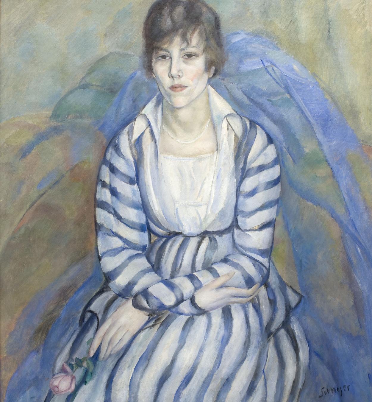 Joaquim Sunyer - Retrat de Maria Llimona - Sitges, 1917
