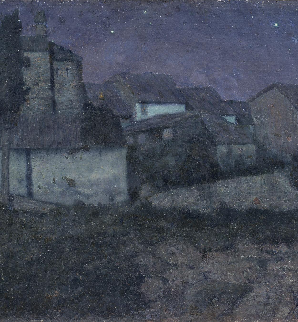 Nicolau Raurich - The Night (Sant Cugat del Vallès) - Circa 1906