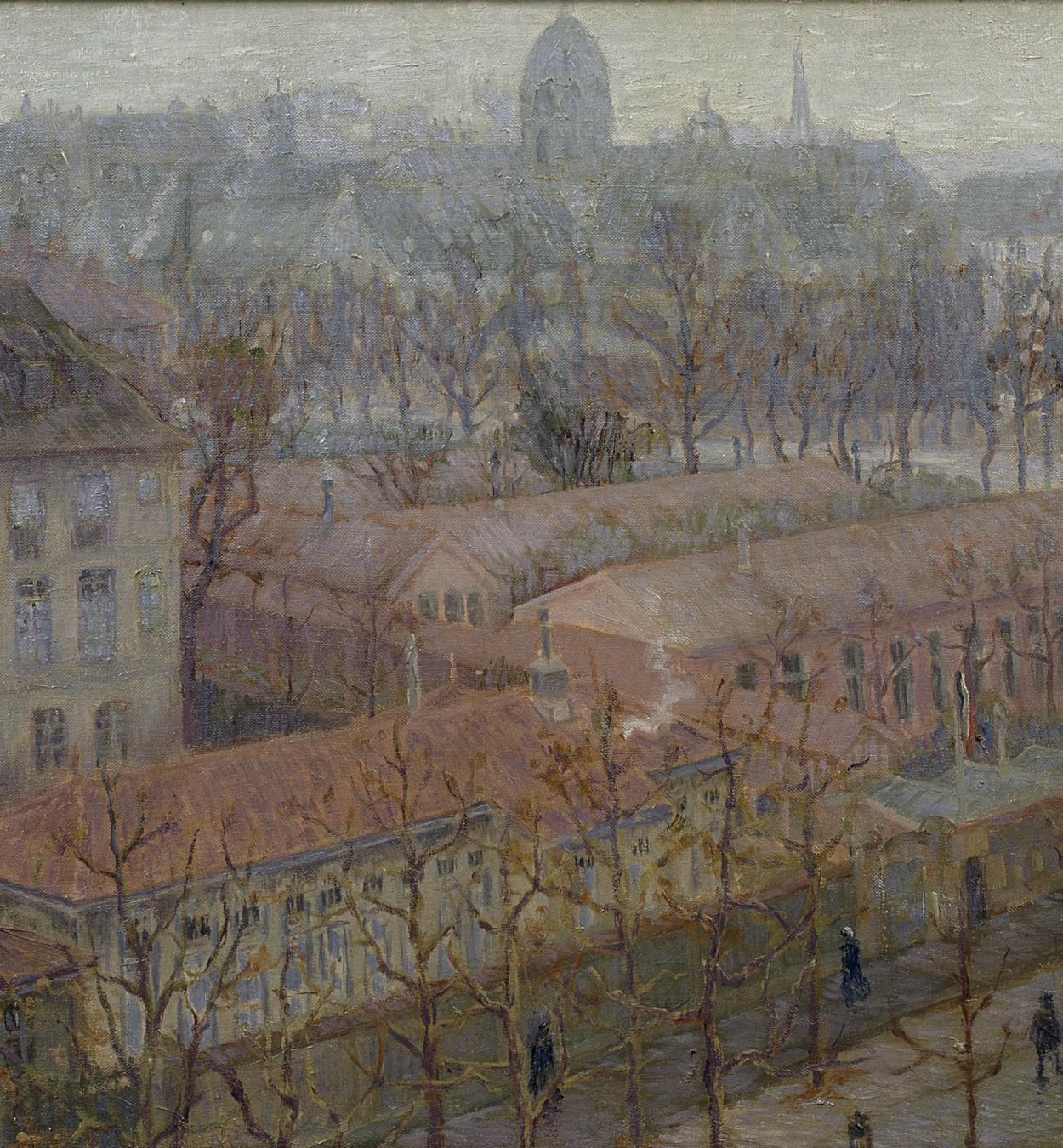 Marià Pidelaserra - Un trozo de París a vista de pájaro (Invierno: día nebuloso) - París, 1900
