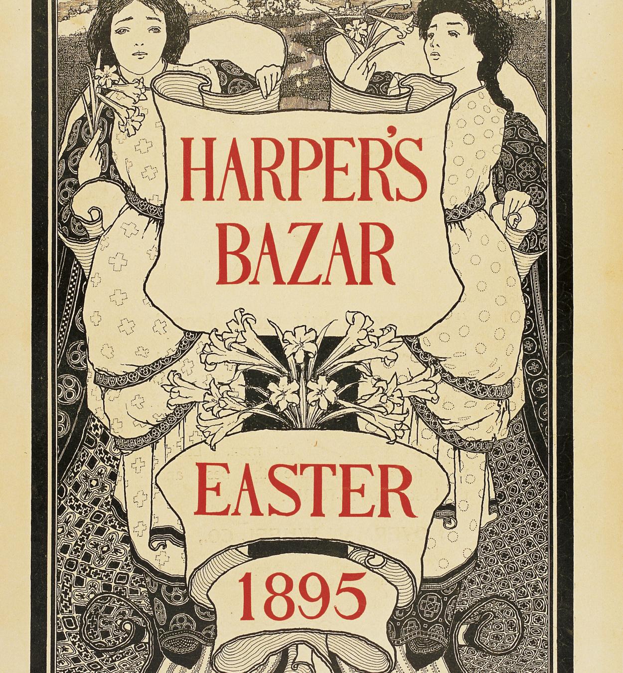 Maxfield Parrish - Harper's Bazar. Easter 1895 - 1895