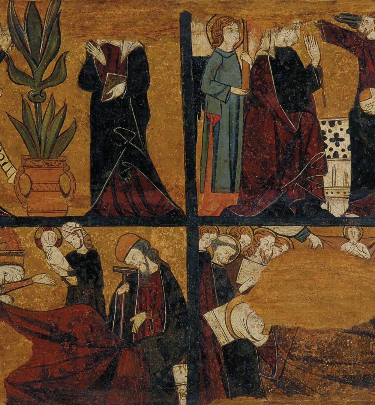 Anònim. Castella - Anunciació, Nativitat, Dormició i Coronació de la Mare de Déu - Cap a 1295