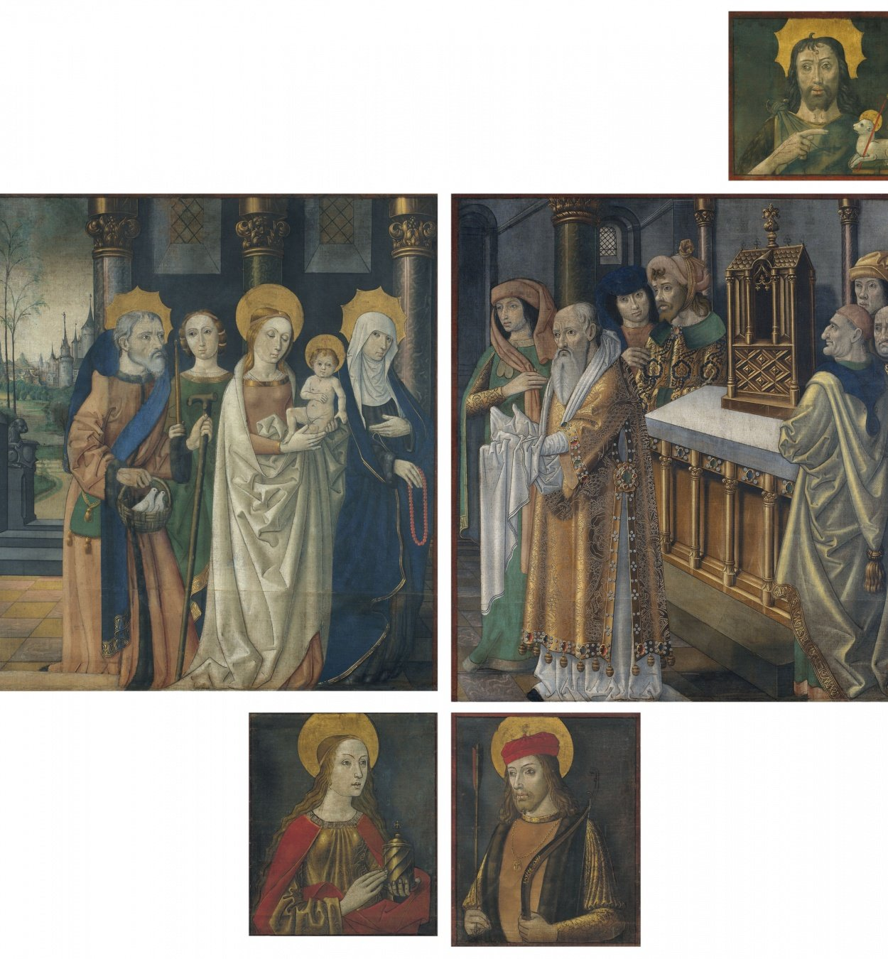 Mestre de la Seu d'Urgell - Paintings from the doors of the organ from La Seu d'Urgell cathedral - Circa 1495-1498