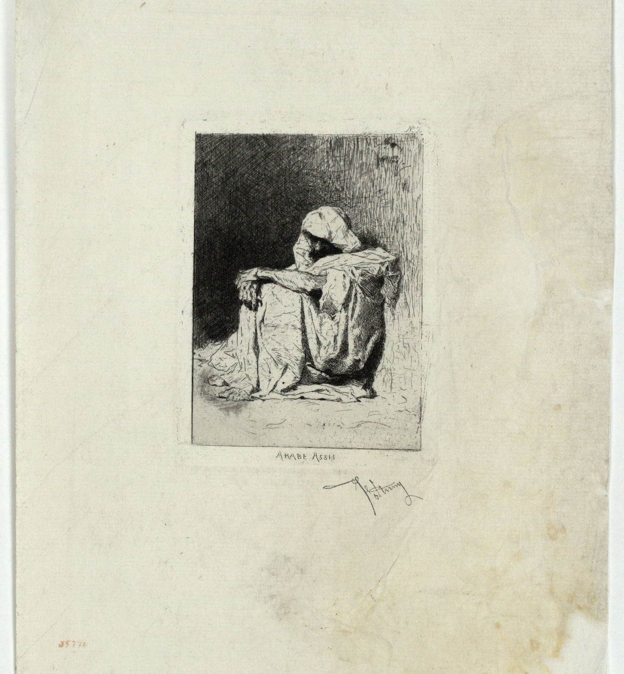 Marià Fortuny - Arabe assis (Seated Arab) - [no-dating]