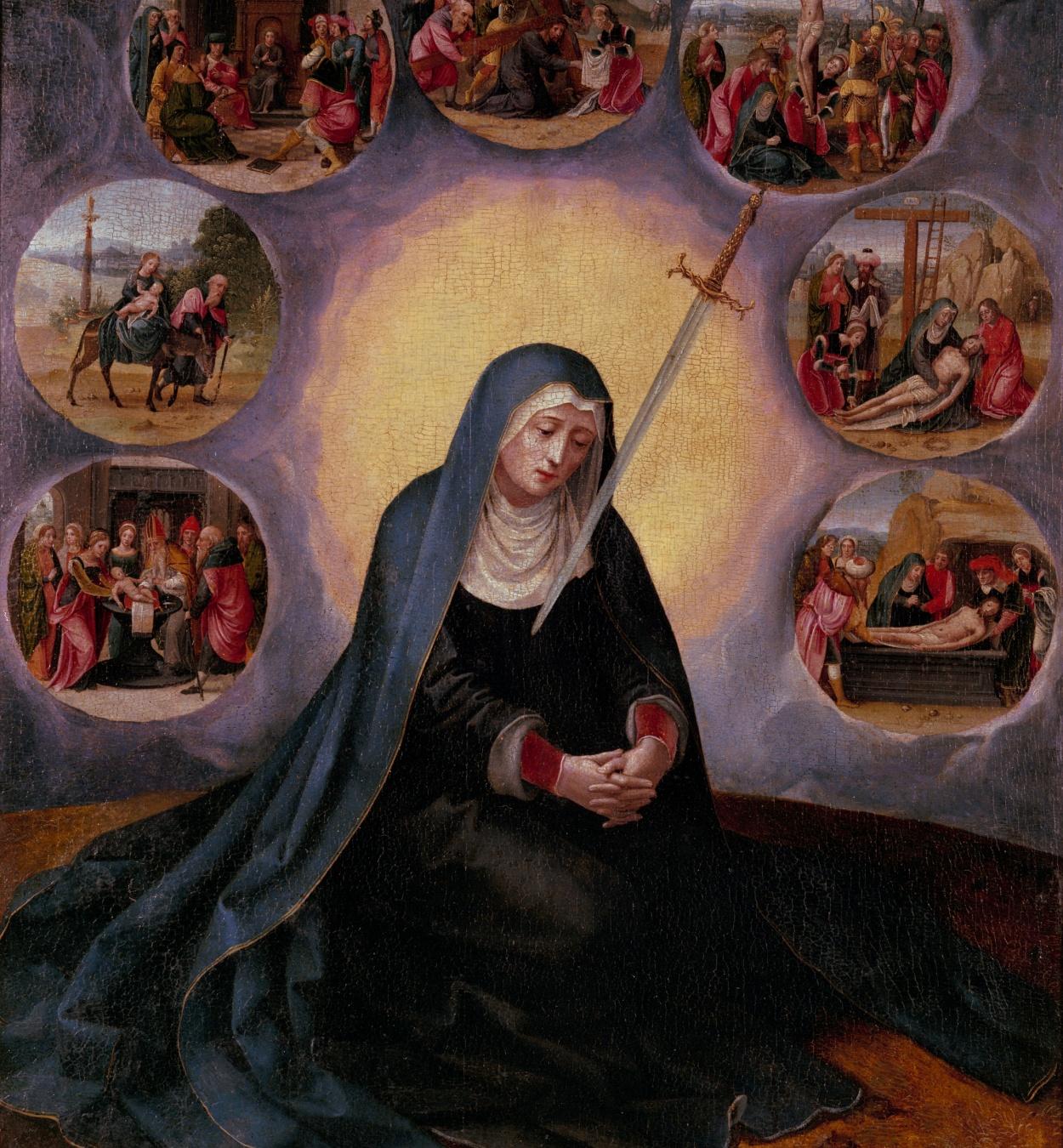 Mestre de les mitges figures - Mare de Déu dels Set Dolors - Segon quart del segle XVI