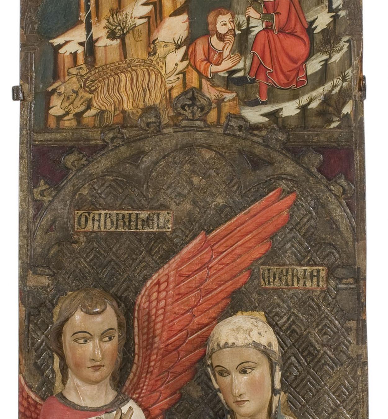 Mestre de Vallbona de les Monges (Guillem Seguer ?) - Anunci als Pastors i Anunciació - Cap a 1335-1350