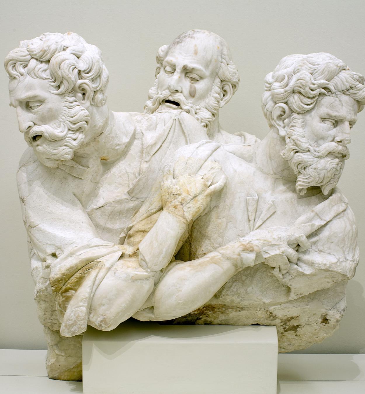 Damià Forment - Dormició de la Mare de Déu: Tres apòstols - 1534-1537