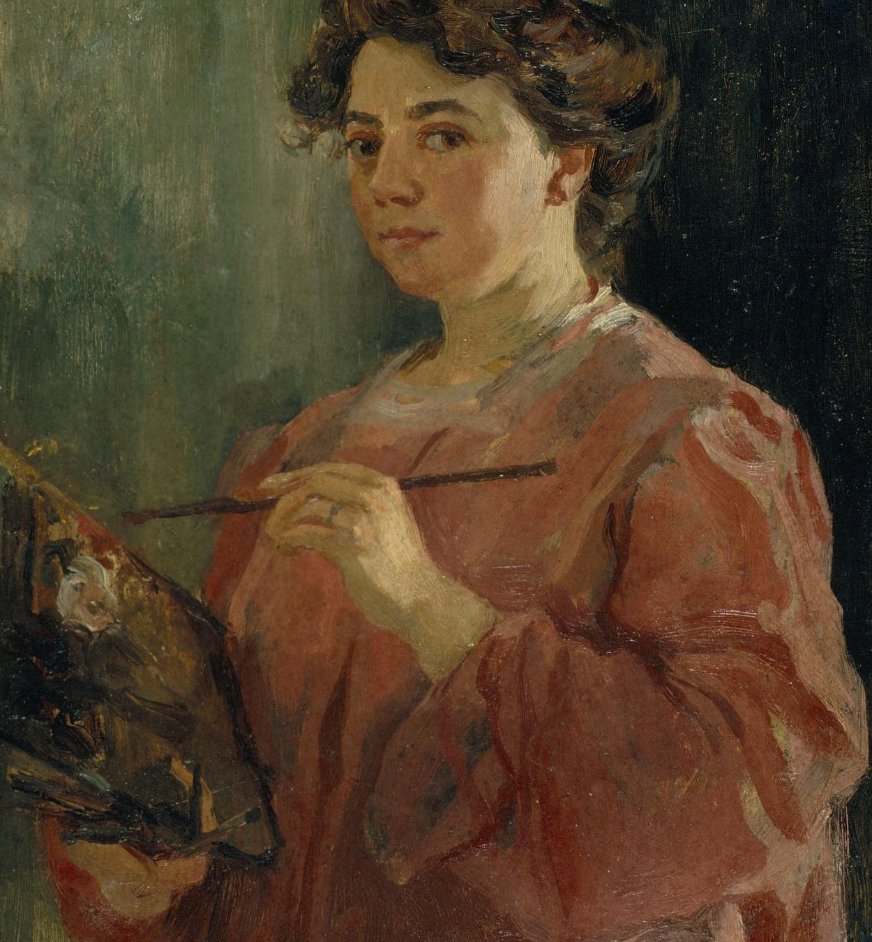 Lluïsa Vidal, Autorretrat, 1899 (detall)