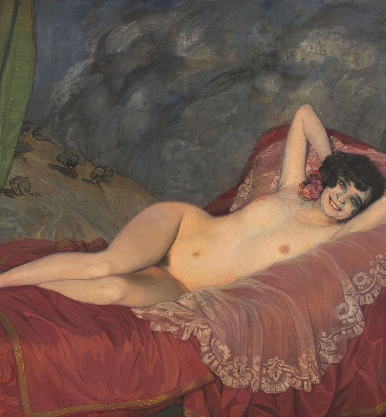 Ignacio Zuloaga - Red Nude - Circa 1922