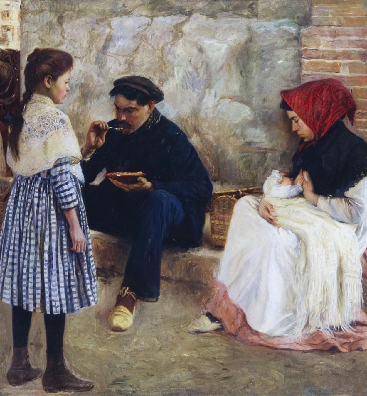 Francesc Sardà - The Worker's Dinner - 1911