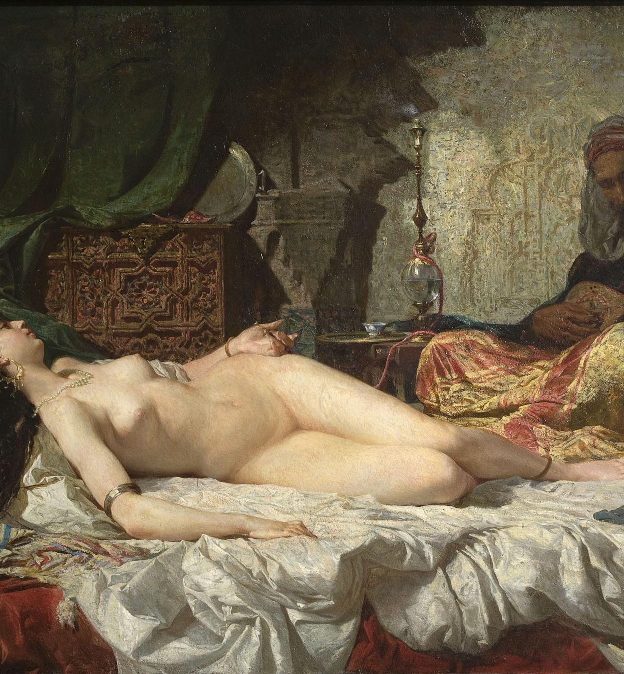 Marià Fortuny - L'odalisca - Roma, 1861