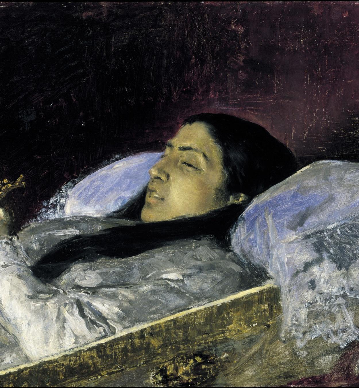 Marià Fortuny - La senyoreta Del Castillo en el seu llit de mort - Granada, 1871
