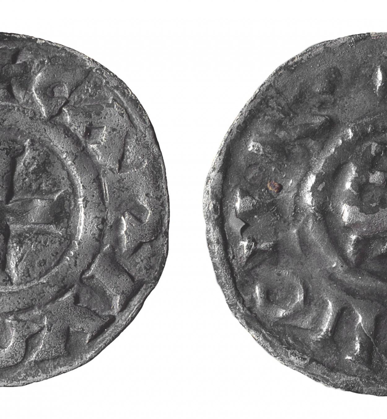 A nom de Carles II de França, dit «El Calb» - Diner d'imitació carolíngia - Segles IX-X
