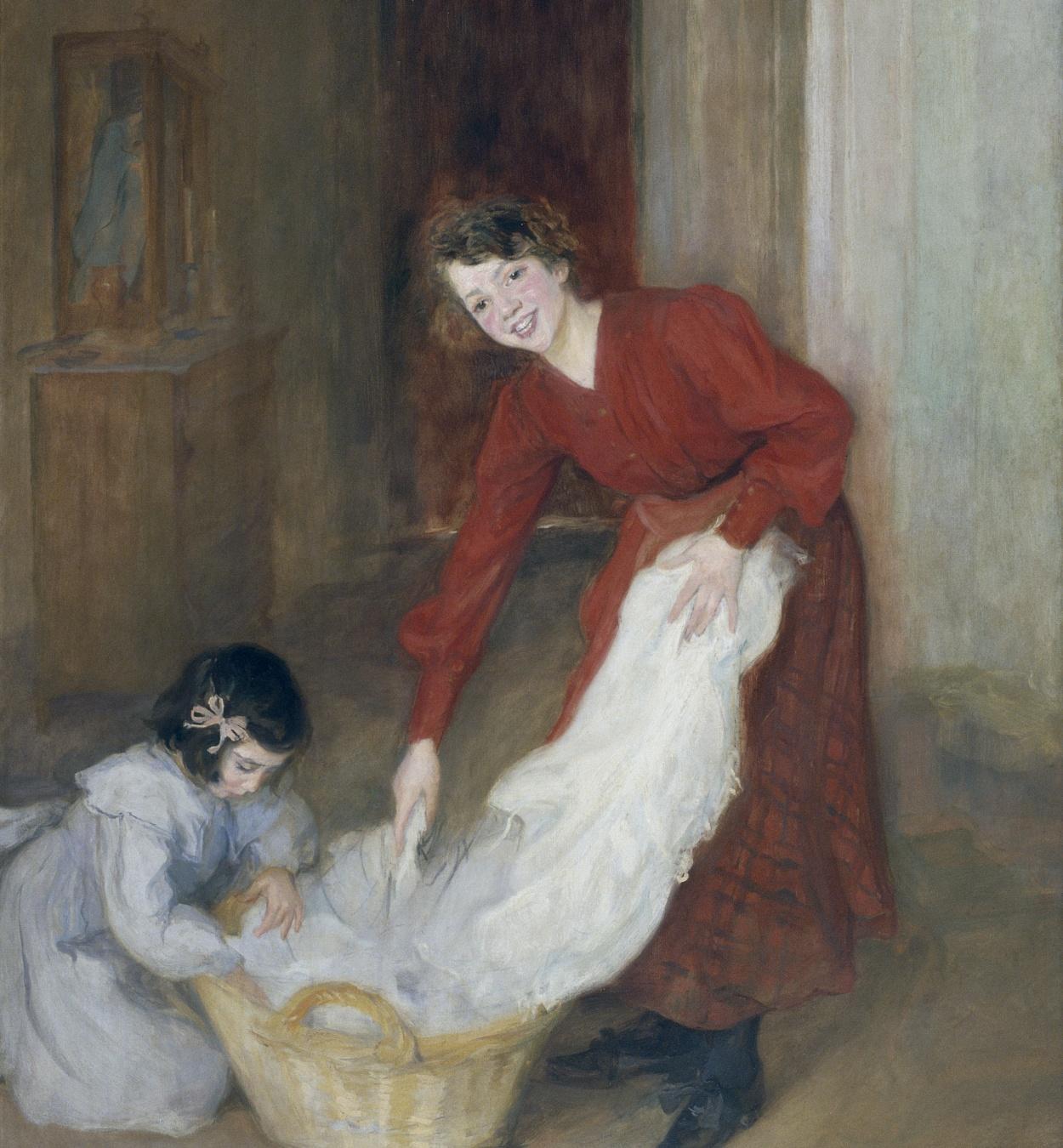 Lluïsa Vidal - Las amas de casa - 1905