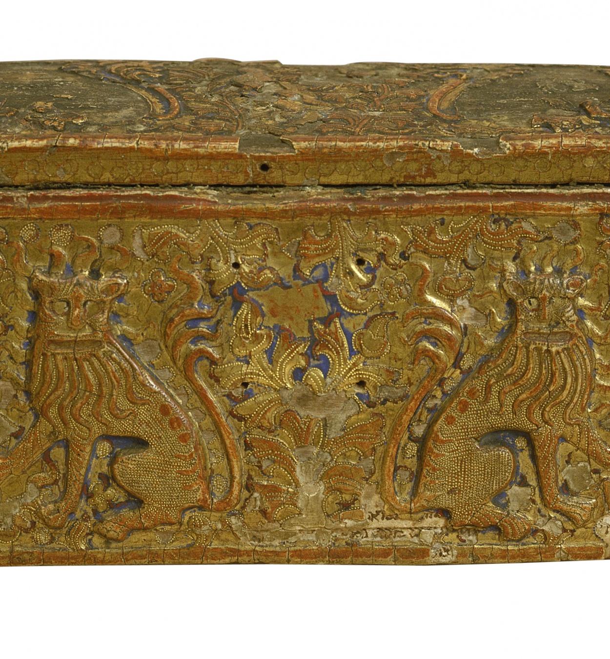 Anònim. Catalunya. Barcelona - Capseta amatòria amb lleons - Cap al segon quart del segle XV