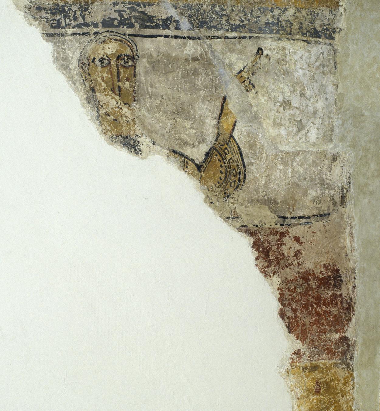 Mestre del Judici Final - Restes de figura de Santa Maria de Taüll - Després de 1123