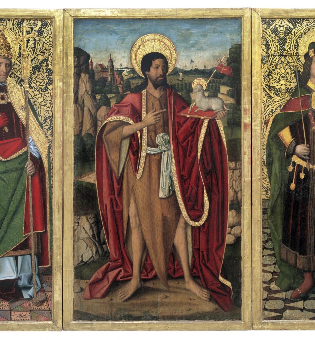 Miguel Ximénez - Sant Joan Baptista; Sant Fabià i Sant Sebastià - 1494