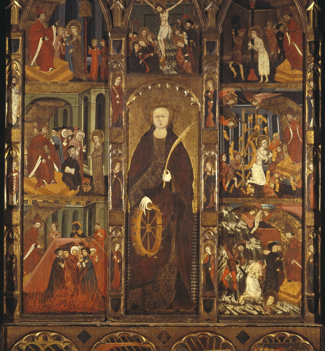 Mestre de Castellbò - Altarpiece of Saint Catherine and Saint Eligius - Circa 1400