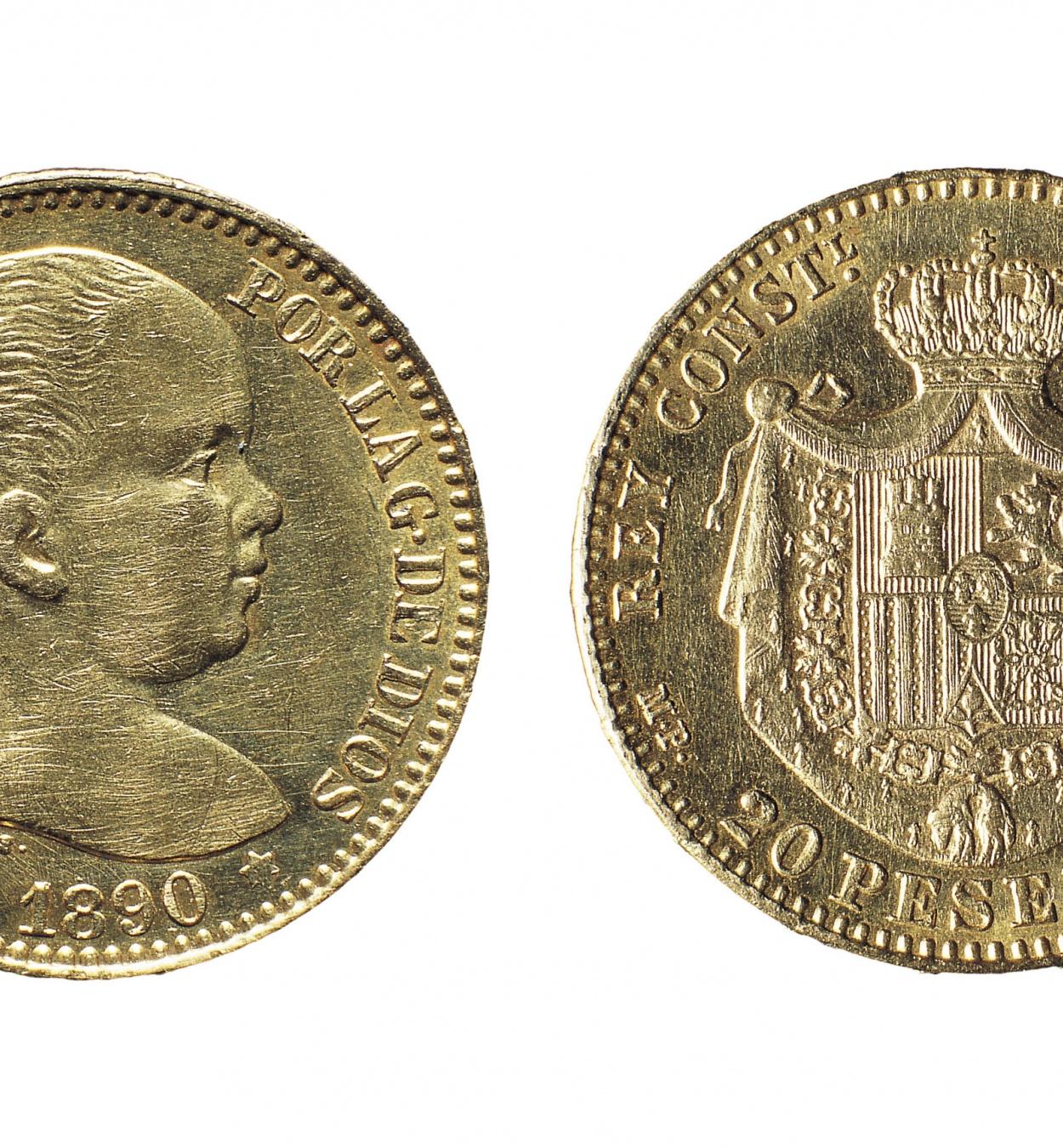 Alfons XIII d'Espanya - 20 pessetes - 1890