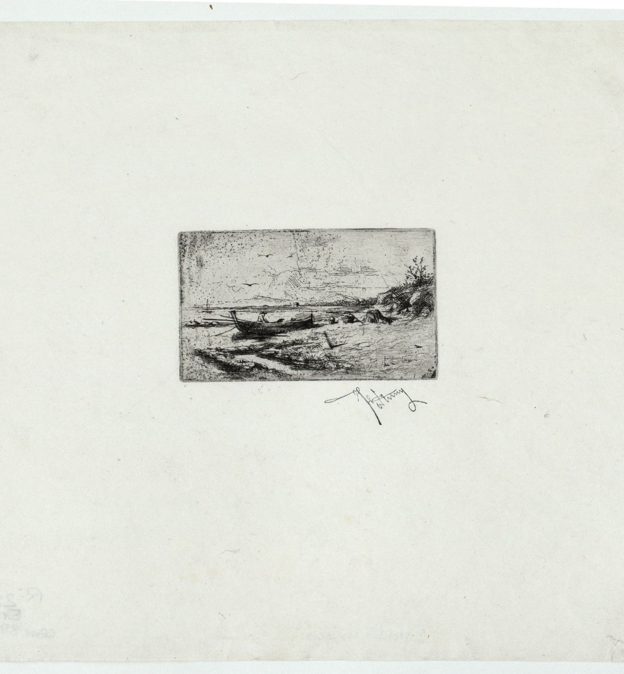 Marià Fortuny - Boat on the Beach - [no-dating]