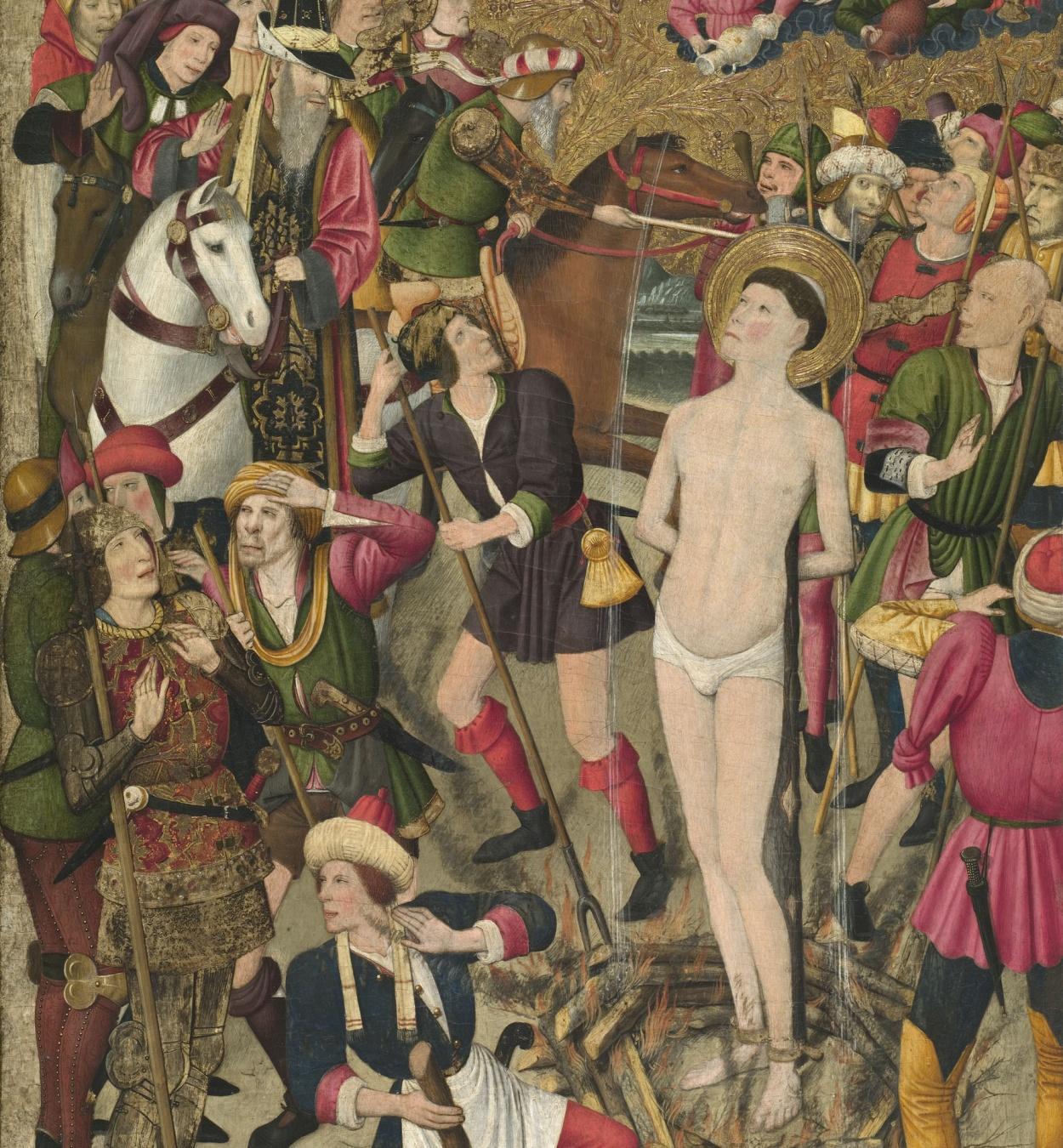 Jaume Huguet - Sant Vicenç a la foguera - Cap a 1455-1460