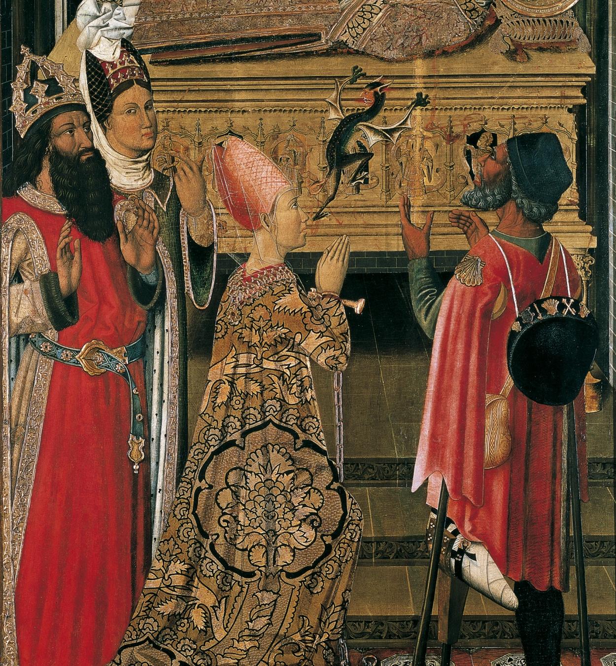 Grup Vergós - La princesa Eudòxia davant la tomba de sant Esteve - 1495-1500