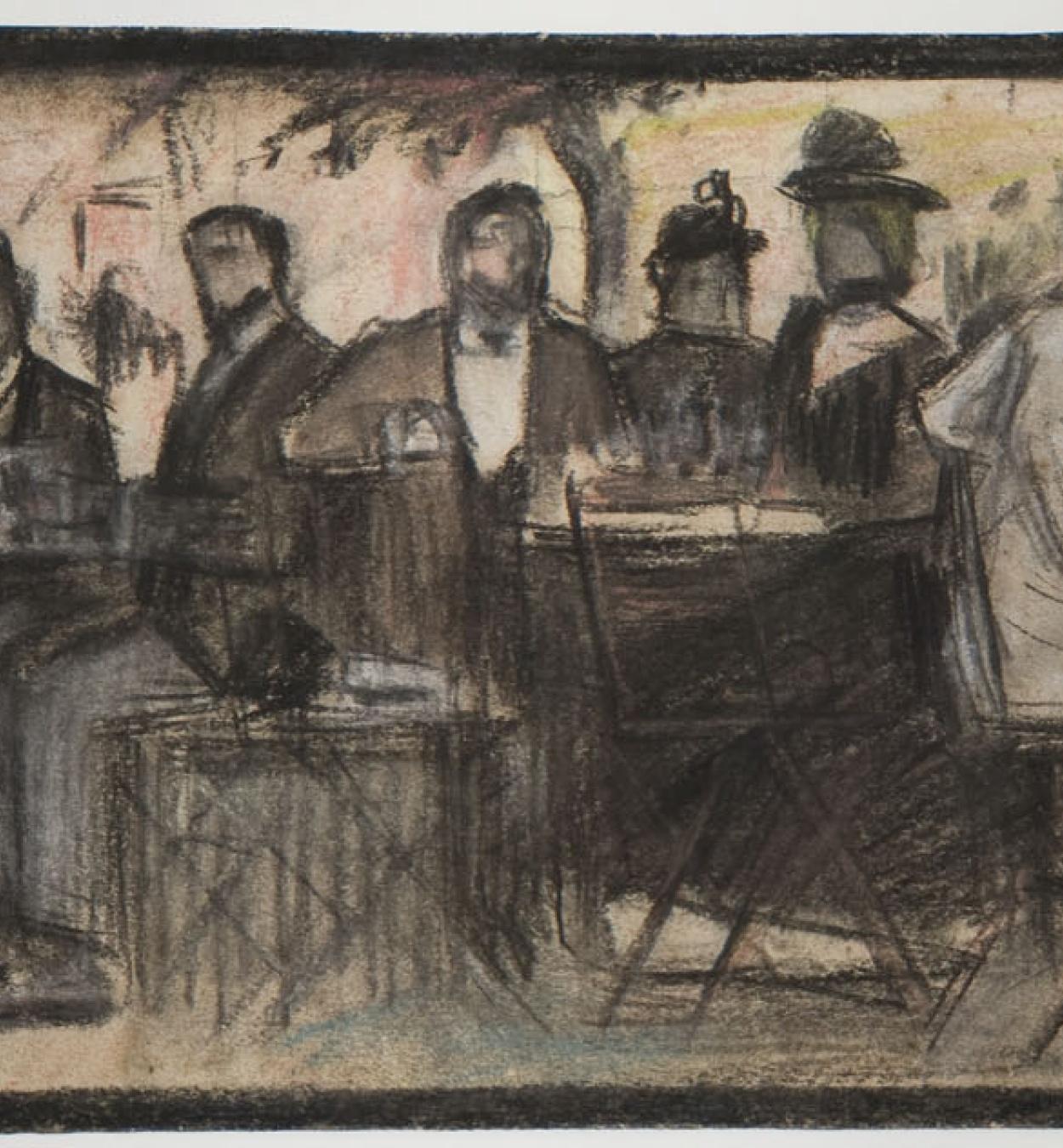 Ricard Opisso - Café de verano - Hacia 1900