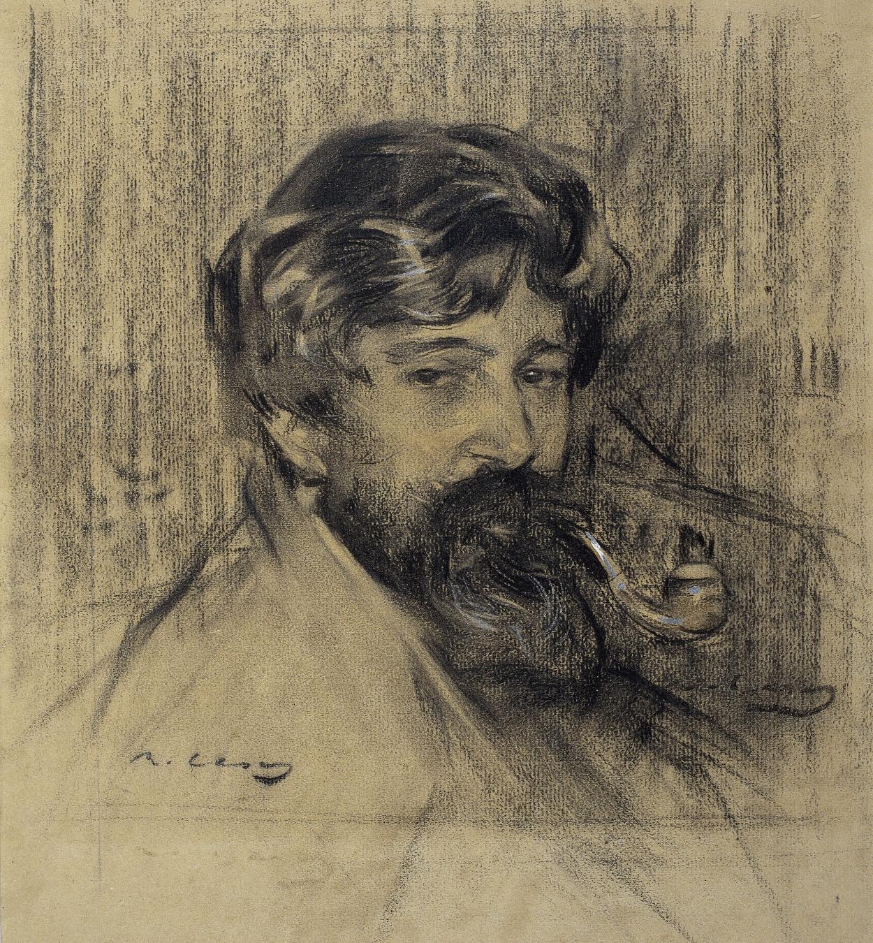 Ramon Casas - Retrato de Santiago Rusiñol - Hacia 1900