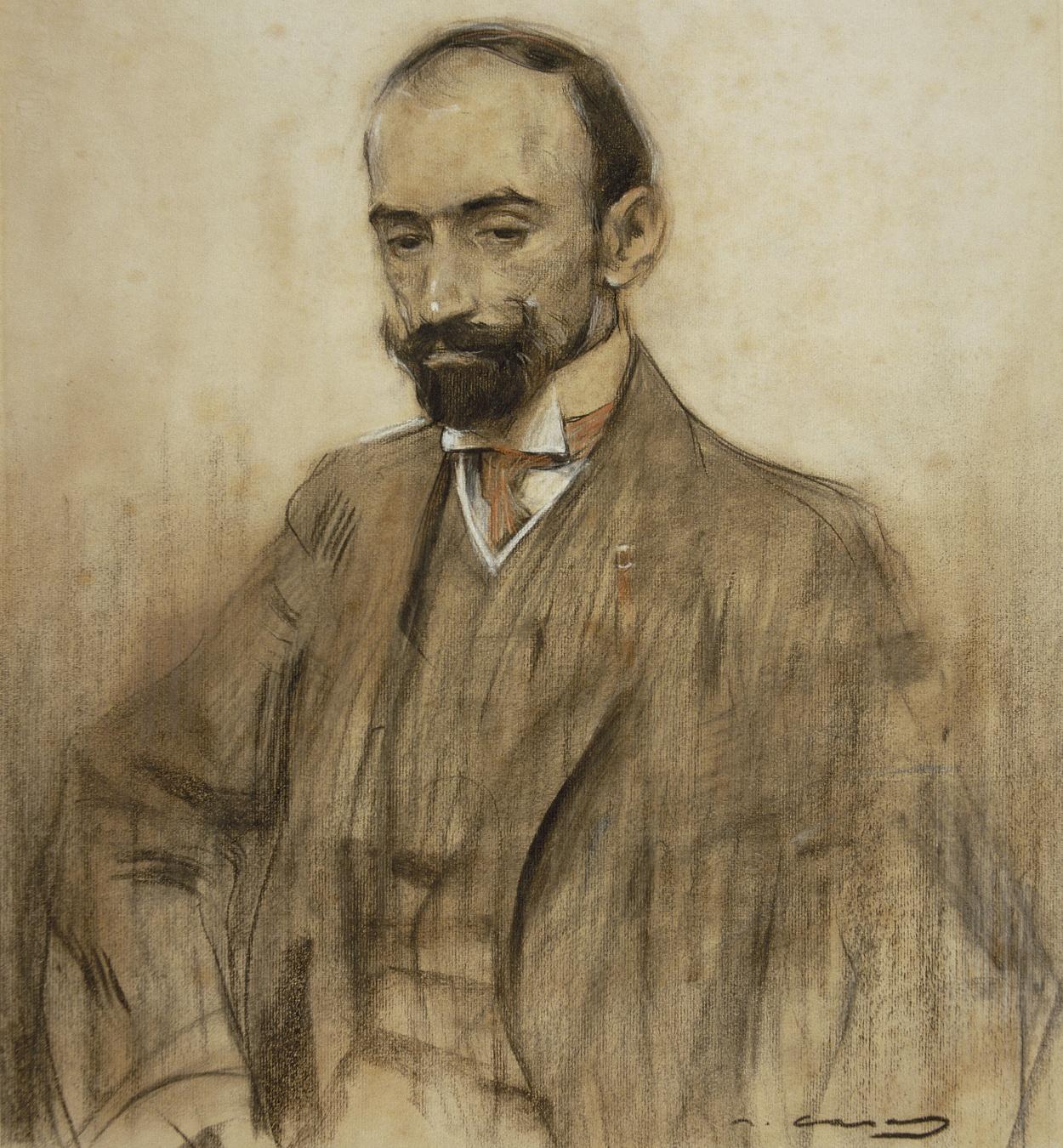 Ramon Casas - Retrato de Jacinto Benavente - Hacia 1904-1905