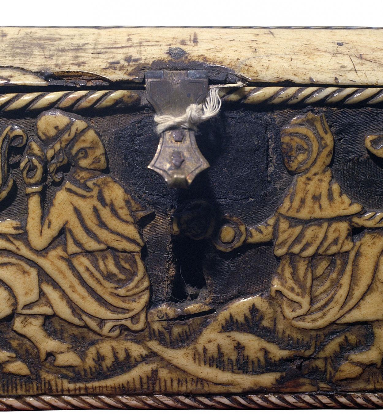 Anònim. França - Capseta amatòria amb dama i unicorn - Segle XV