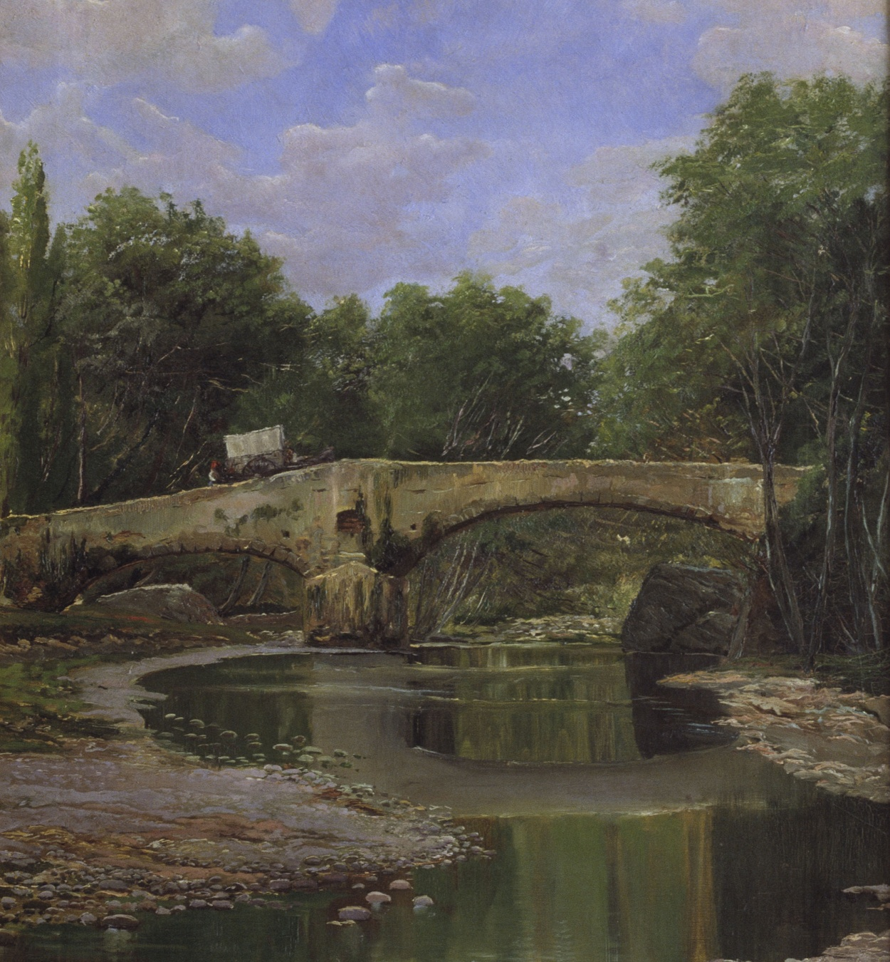 Santiago Rusiñol - Bridge over a River - Barcelona, Circa 1884