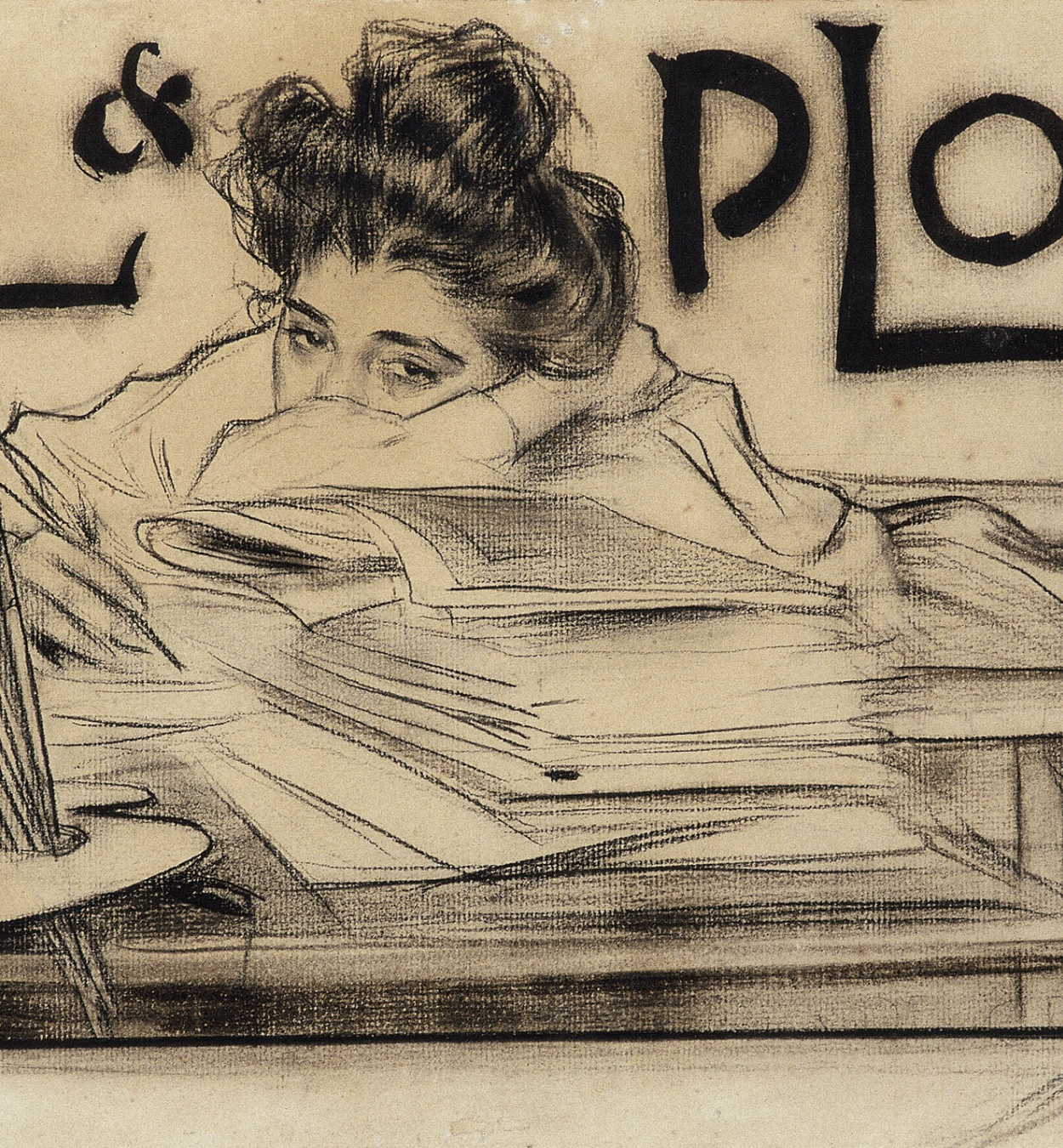 Ramon Casas - Capçalera per a la revista «Pèl & Ploma» - 1899